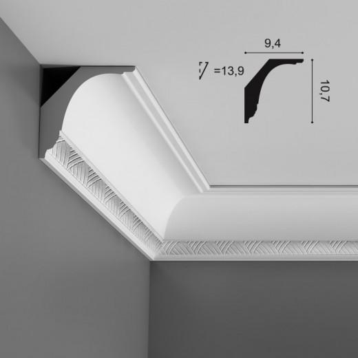 Карниз Orac decor - Luxxus (9,4х10,7х200 см), Артикул  C402