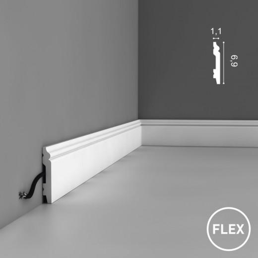 Плинтус Orac decor - Axxent (1,1х6,9х200 см), Гибкий, Артикул  SX165F