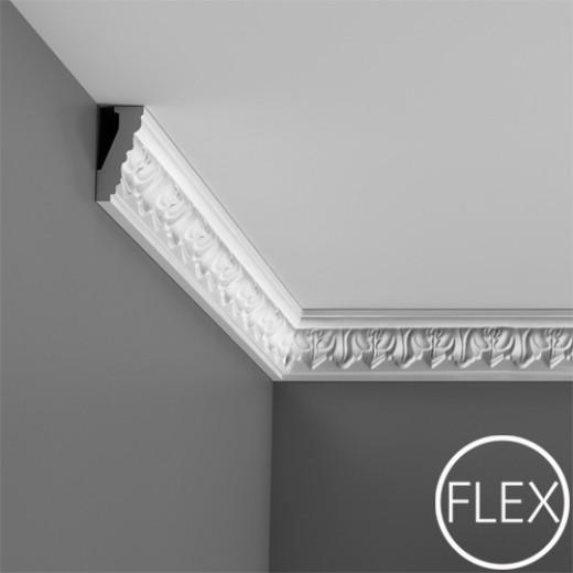 Карниз Orac decor - Luxxus (3,1х6,6х200 см), Гибкий, Артикул  C214F