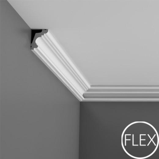 Карниз Orac decor - Luxxus (4,2х5х200 см), Гибкий, Артикул  C322F