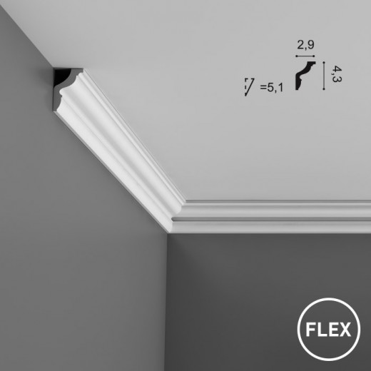 Карниз Orac decor - Axxent (2,9х4,3х200 см), Гибкий, Артикул  CX148F