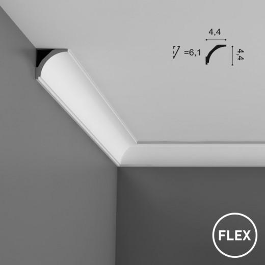 Карниз Orac decor - Axxent (4,4х4,4х200 см), Гибкий, Артикул  CX109F