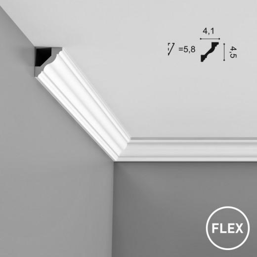 Карниз Orac decor - Axxent (4,1х4,5х200 см), Гибкий, Артикул  CX110F