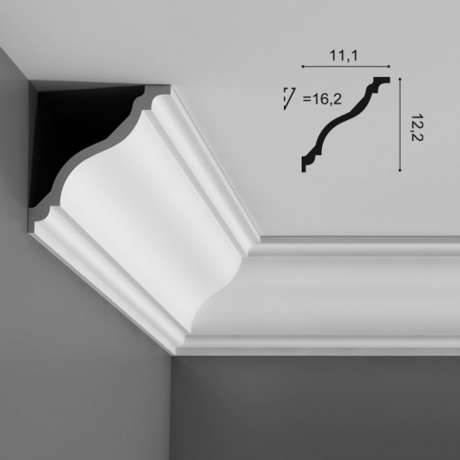 Карниз Orac decor - Luxxus (11,1х12,2х200 см), Артикул  C333