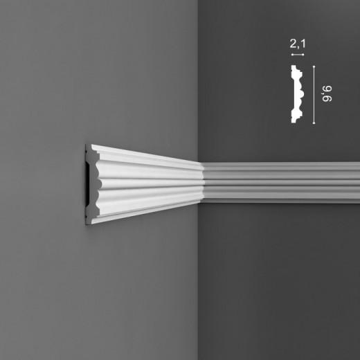 Молдинг Orac decor - Luxxus (2,1х9,6х200 см), Артикул  P9020