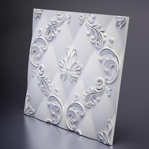 3D Панель Artpole Marseille (600х600х26 см), Гипс, Цвет белый