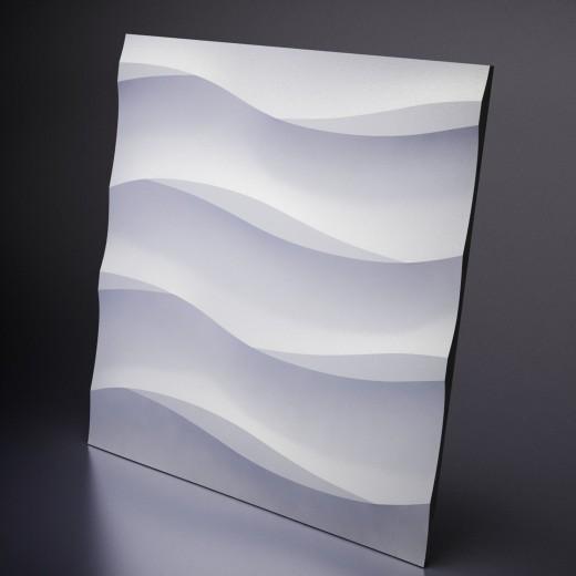 3D Панель Artpole Cotton (600х600х20 см), Гипс, Цвет белый