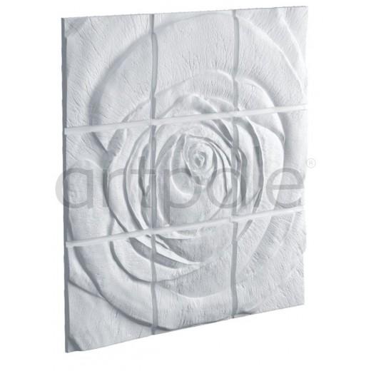 3D Панель Artpole Rose (Панно) (1 800х1 800х47 см), Гипс, Цвет белый