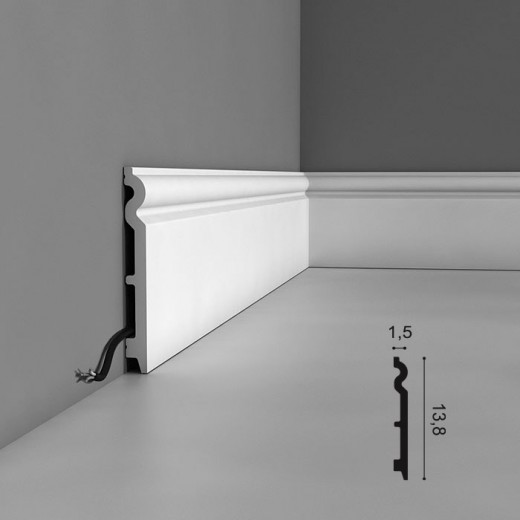 Плинтус Orac decor - Axxent (1,5х13,8х200 см), Артикул  SX138