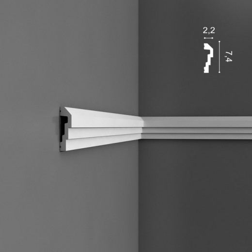 Молдинг Orac decor - Luxxus (2,2х7,4х200 см), Артикул  P7070