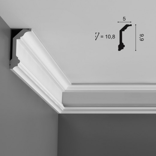 Карниз Orac decor - Luxxus (5х9,9х200 см), Артикул  C321