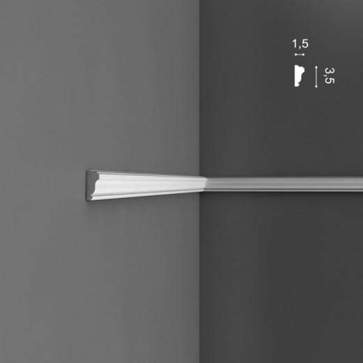 Молдинг Orac decor - Axxent (1,5х3,5х200 см), Артикул  PX117