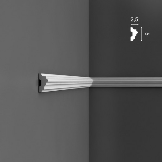 Молдинг Orac decor - Luxxus (2,5х5х200 см), Артикул  P9040