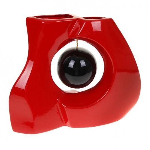Ваза настольная (керамика), Цвет красный, Арт. 7660