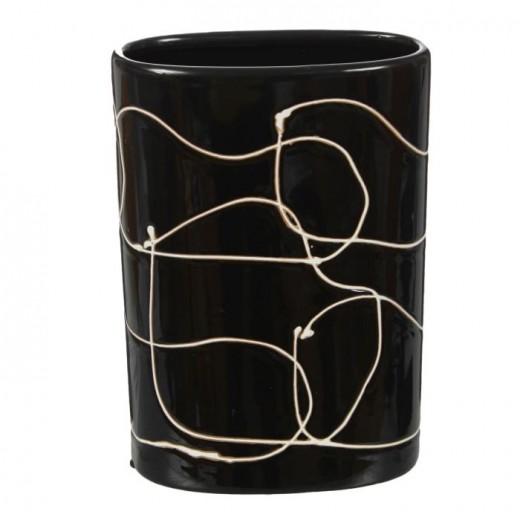 Ваза настольная (керамика), Цвет черный, Арт. 7668