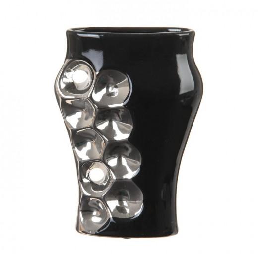 Ваза настольная (керамика), Цвет черный, Арт. 7669