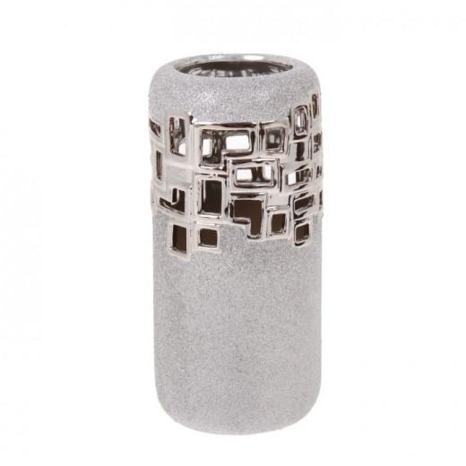 Ваза настольная (керамика), Цвет серебро, Арт. 7681