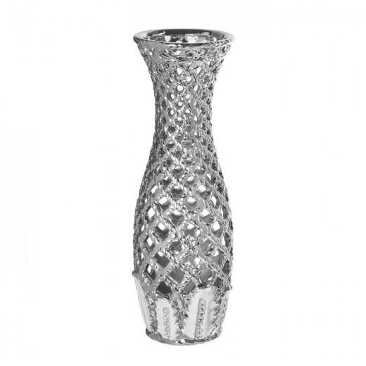 Ваза настольная (керамика), Цвет серебро, Арт. 7683
