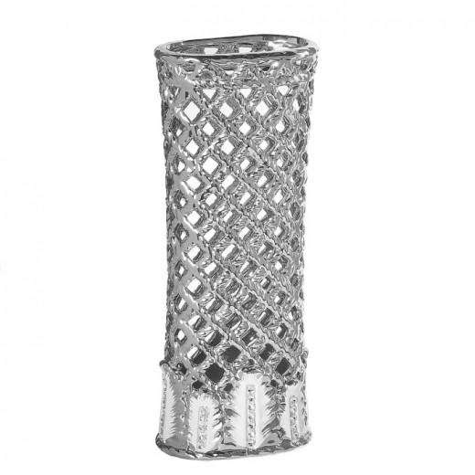 Ваза настольная (керамика), Цвет серебро, Арт. 7684