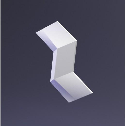 3D Панель Artpole Mercury (145х250х20 см), Гипс, Цвет белый