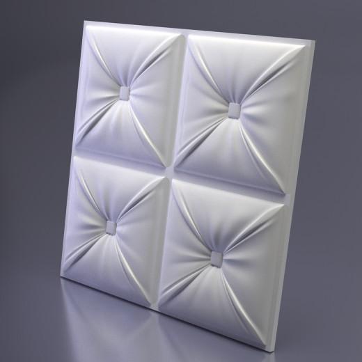 3D Панель Artpole Chester (500х500х33 см), Гипс, Цвет белый