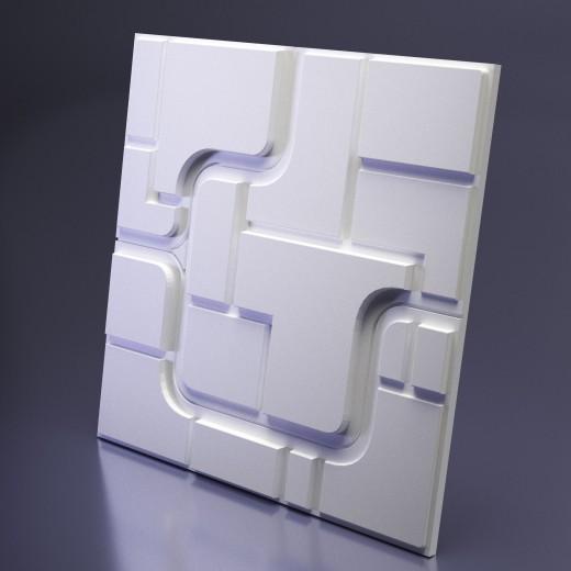 3D Панель Artpole Space 1 (600х600х28 см), Гипс, Цвет белый