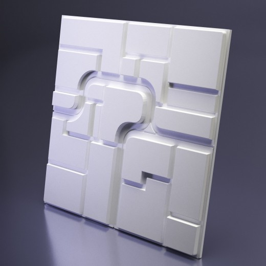 3D Панель Artpole Space 2 (600х600х28 см), Гипс, Цвет белый
