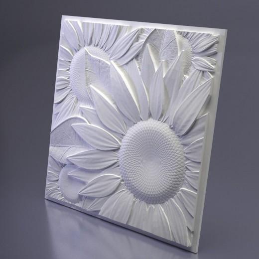 3D Панель Artpole Sunflower (500х500х32 см), Гипс, Цвет белый