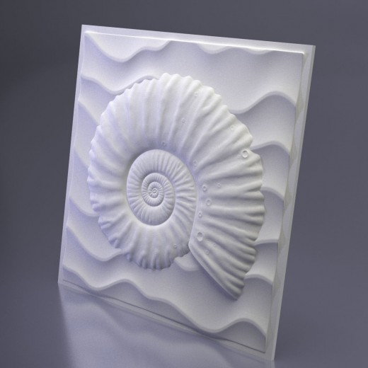 3D Панель Artpole Underwater (500х500х31 см), Гипс, Цвет белый