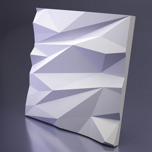 3D Панель Artpole Stells 1 (600х600х56 см), Гипс, Цвет белый
