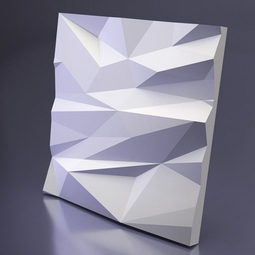 3D Панель Artpole Stells 2 (600х600х56 см), Гипс, Цвет белый