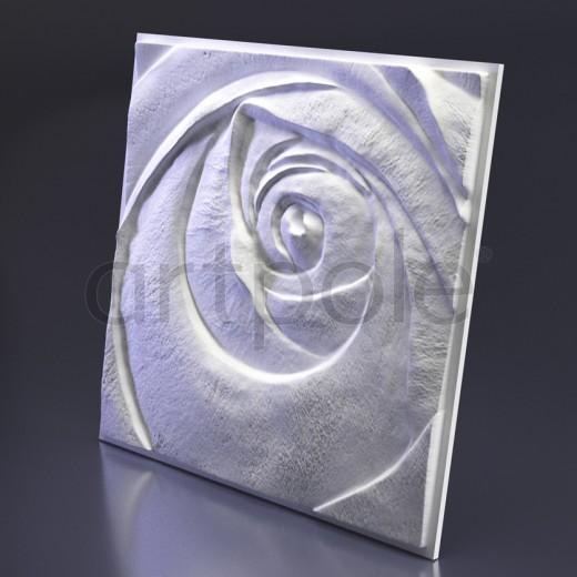 3D Панель Artpole Rose 5 (Пятый элемент) (600х600х47 см), Гипс, Цвет белый