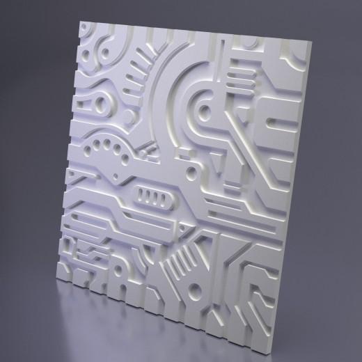 3D Панель Artpole Ex-Machina B (600х600х20 см), Гипс, Цвет белый