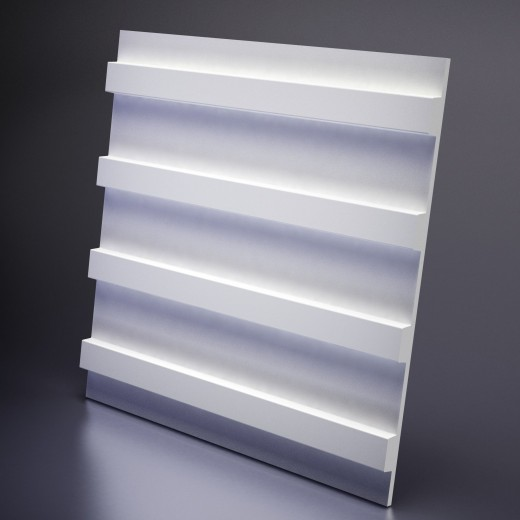 3D Панель Artpole Paraline S (600х600х30 см), Гипс, Цвет белый