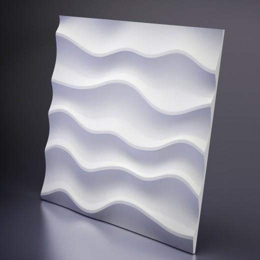 3D Панель Artpole Sandy 1 (600х600х24 см), Гипс, Цвет белый