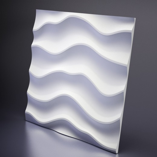 3D Панель Artpole Sandy 2 (600х600х24 см), Гипс, Цвет белый