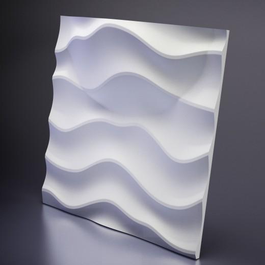 3D Панель Artpole Sandy 2 LED (WHITE) (600х600х80 см), Гипс, Цвет белый