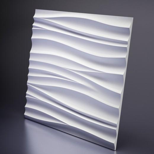 3D Панель Artpole Silk 2 (600х600х28 см), Гипс, Цвет белый