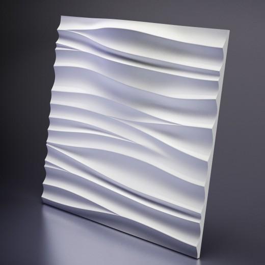 3D Панель Artpole Silk 2 LED (WHITE) (600х600х89 см), Гипс, Цвет белый